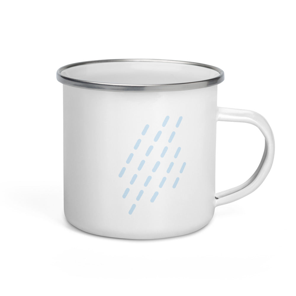 Raining Enamel Mug - FRANKdesigns.Co
