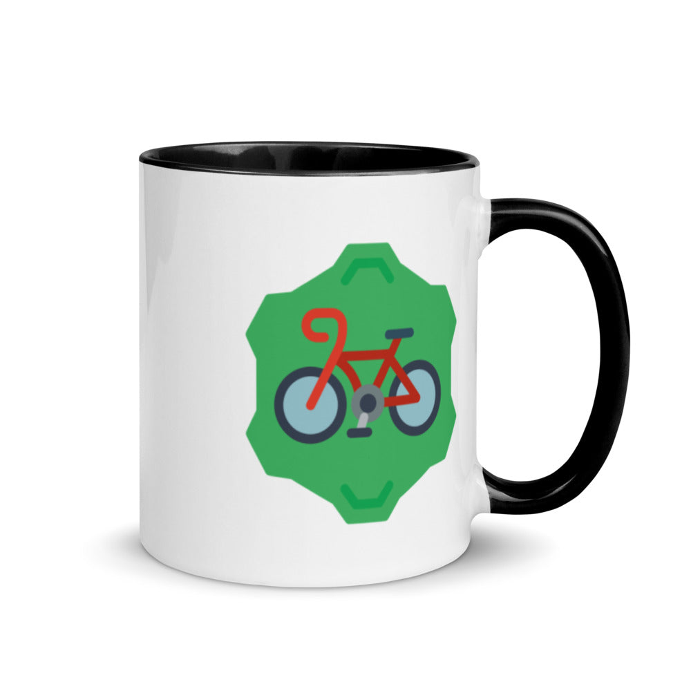 Bicycle Gear Mug with Color Inside - FRANKdesigns.Co
