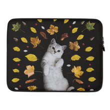 Load image into Gallery viewer, Laptop Sleeve | Autumn Cat - FRANKdesigns.Co