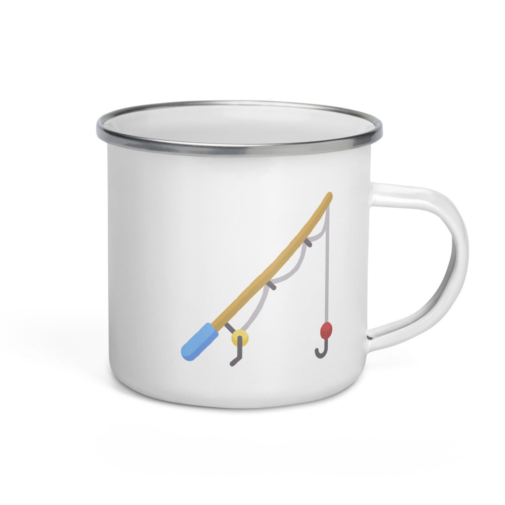 Fishing Rod Enamel Mug - FRANKdesigns.Co