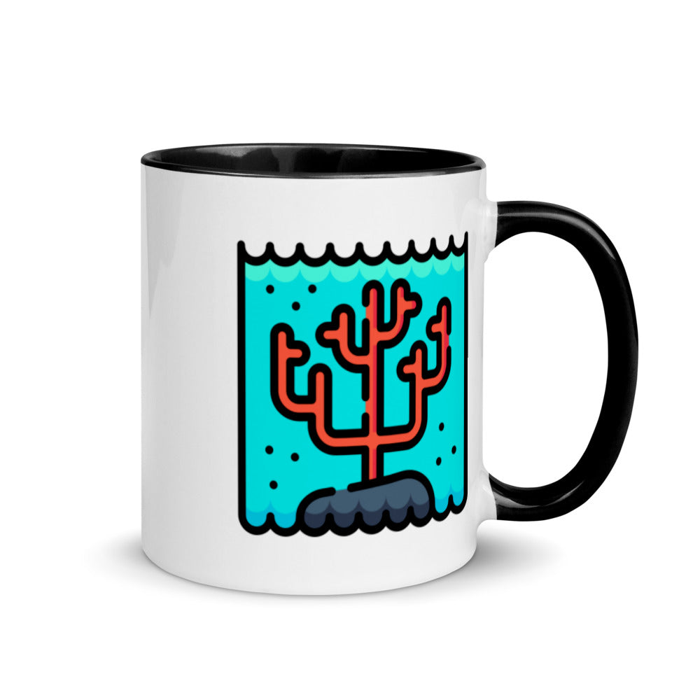 Coral  Reef Mug with Color Inside - FRANKdesigns.Co