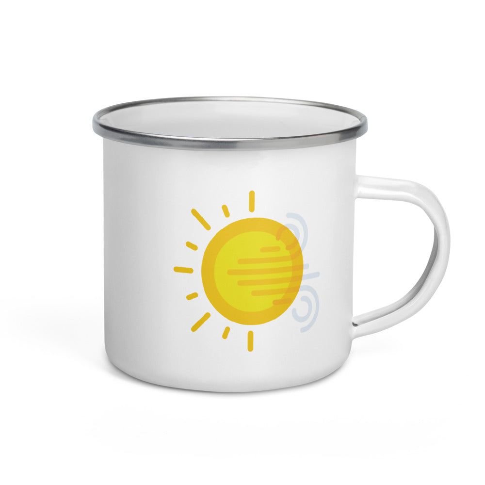 windy Enamel Mug - FRANKdesigns.Co