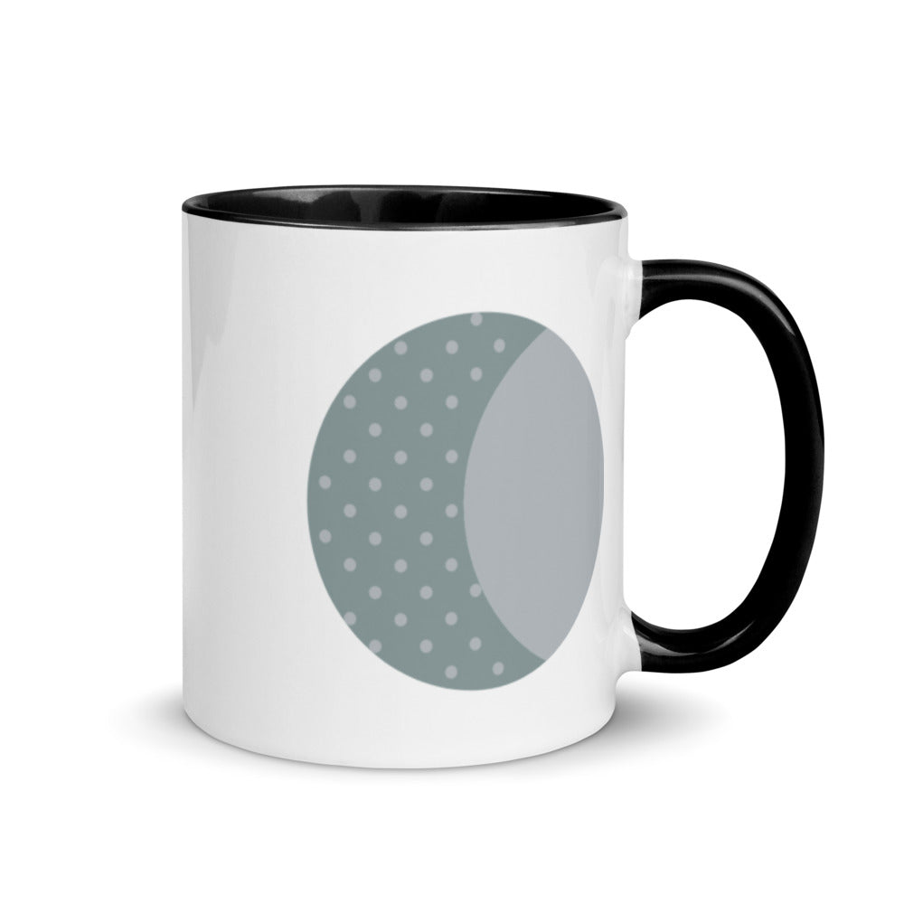 Waxing Gibbous Moon Mug with Color Inside - FRANKdesigns.Co