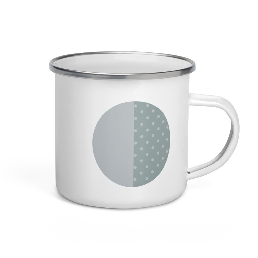 Third Quarter Moon Enamel Mug - FRANKdesigns.Co