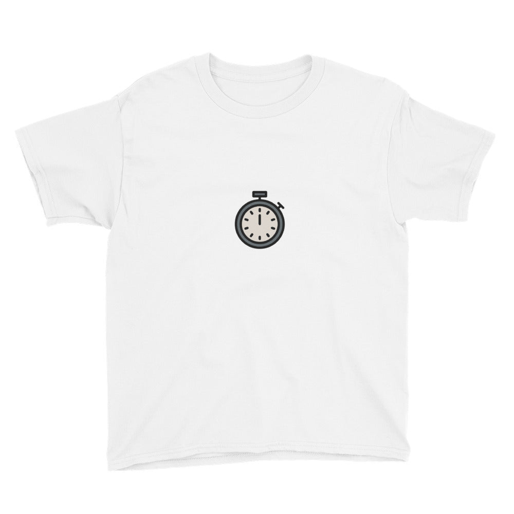 Stopwatch Youth Short Sleeve T-Shirt - FRANKdesigns.Co