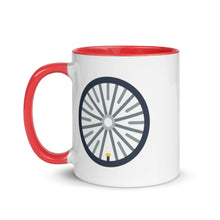 Load image into Gallery viewer, Bicycle Wheel Mug with Color Inside - FRANKdesigns.Co