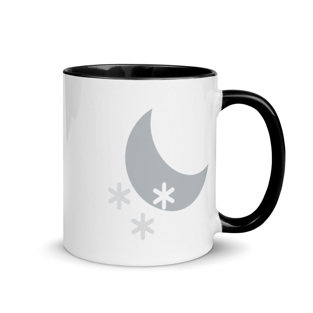 Night Snow Mug with Color Inside - FRANKdesigns.Co
