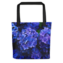 Load image into Gallery viewer, Blue Flowers Tote bag - FRANKdesigns.Co