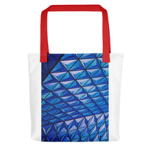 Load image into Gallery viewer, Blue Angle Grid Tote bag - FRANKdesigns.Co