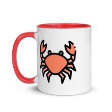 Load image into Gallery viewer, Little Crab Mug with Color Inside - FRANKdesigns.Co