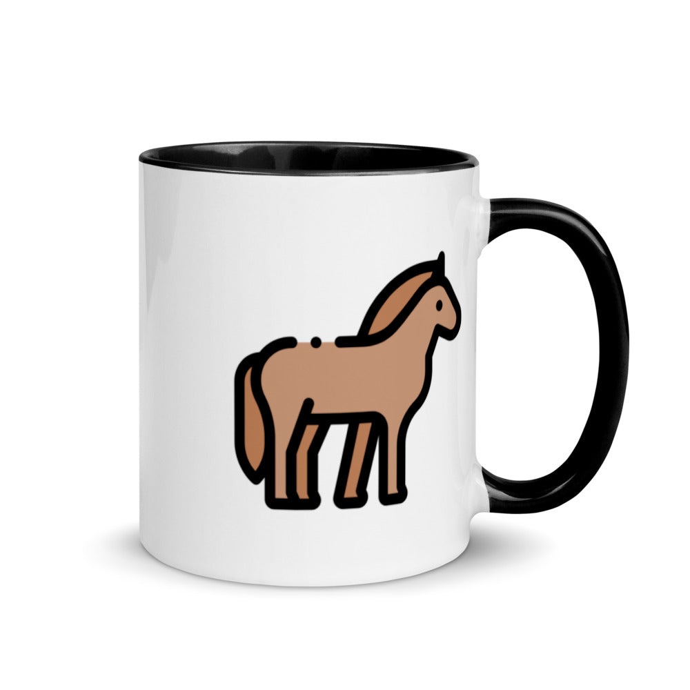 Little Horse Mug with Color Inside - FRANKdesigns.Co