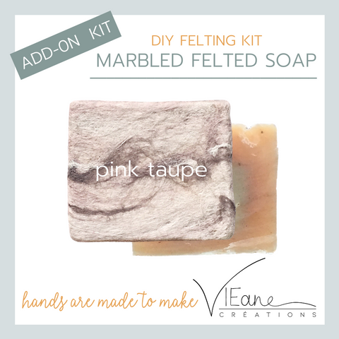 REFILL/ADD-ON KIT - Marbled felted soap - PINK TAUPE