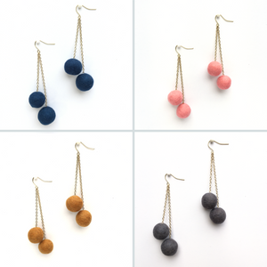REFILL/ADD-ON KIT - Felted balls earring kit