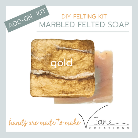 REFILL/ADD-ON KIT - Marbled felted soap - GOLD