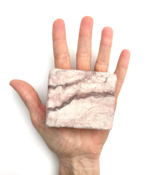 BASE KIT FOR 1 - Marbled felted soap – PINK TAUPE