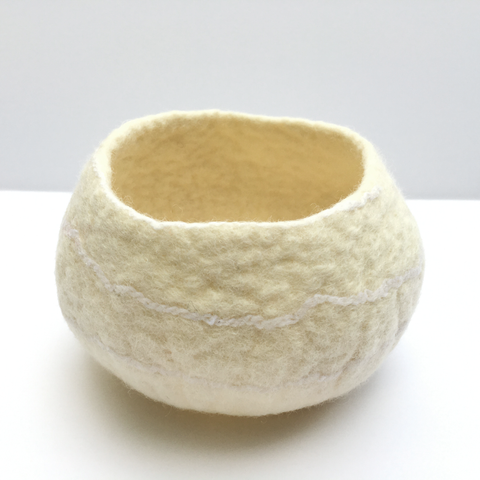 REFILL/ADD-ON KIT - Minimalist felted bowl - WHITE/GREY