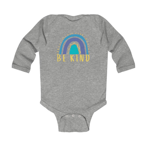 Be Kind (Down Syndrome Colors) - Infant Long Sleeve Bodysuit