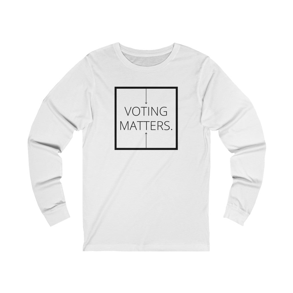 Voting Matters Inspirational Jersey Long Sleeve