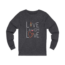 Load image into Gallery viewer, Inspirational, Live Laugh Love Jersey Long Sleeve