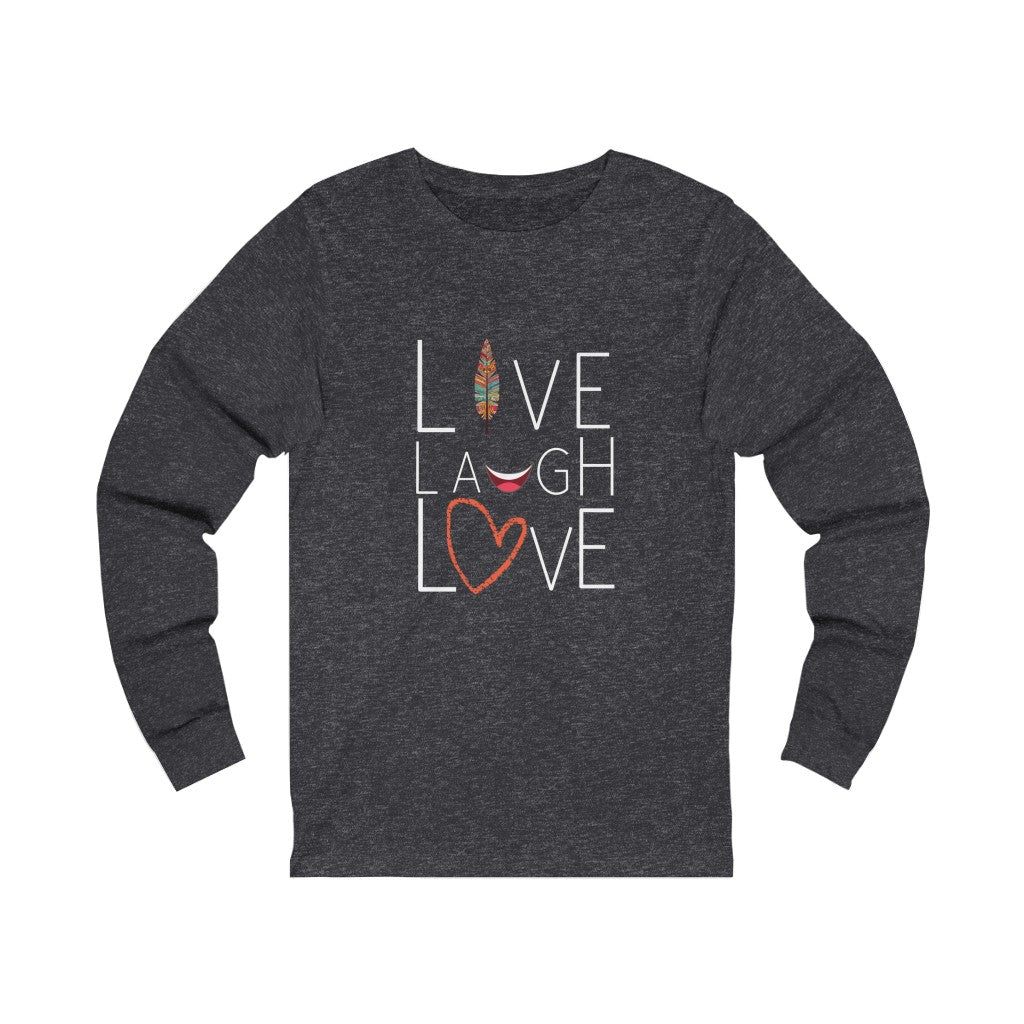 Inspirational, Live Laugh Love Jersey Long Sleeve