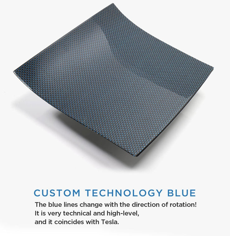 BLUE CARBON FIBER CENTER CONSOLE SET