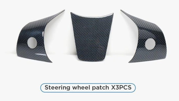 BLUE Carbon Fiber Steering Wheel Patch Set
