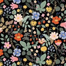 Load image into Gallery viewer, C+S Rifle Paper Co. Strawberry Fields Black Rayon