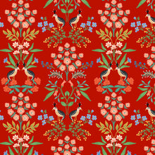 Load image into Gallery viewer, C+S Rifle Paper Company Meadow Luxembourg Red