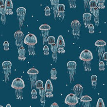 Load image into Gallery viewer, C+S Kaikoura - Drifting Jellies - Ocean Pearlescent Fabric