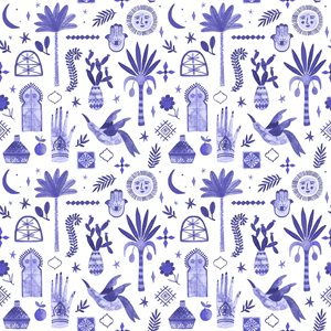 C+S  Marbella - by Tania Garcia - Moroccan Nights - Majestic Violet Fabric