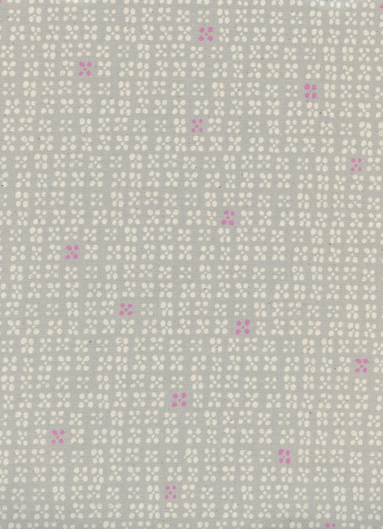 C+S  Sunshine - Beads - Grey Unbleached Cotton Fabric