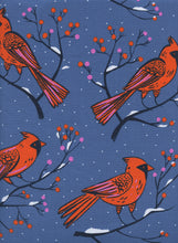 Load image into Gallery viewer, C+S Frost - Winter Cardinals - Blue Fabric