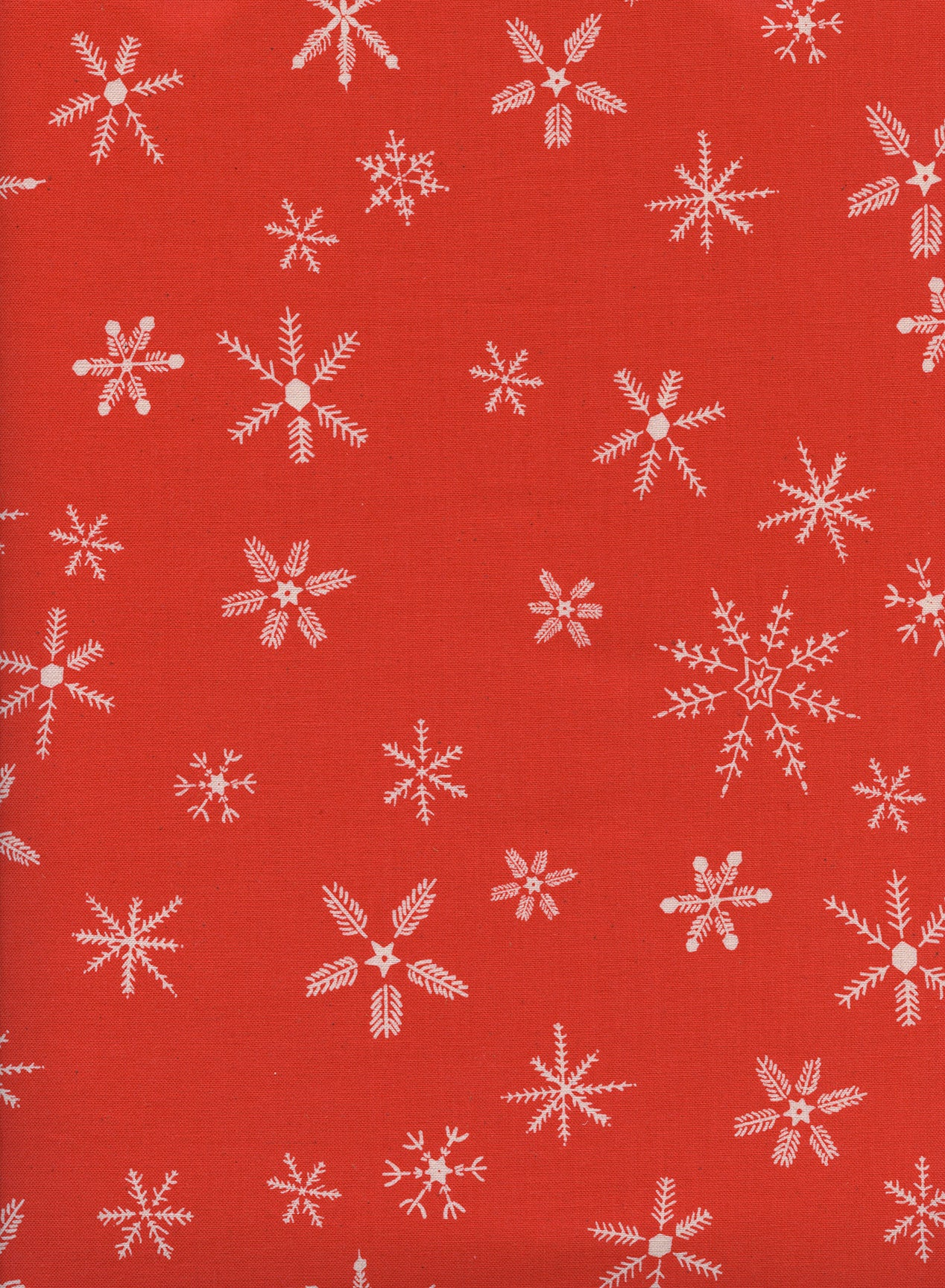 C+S Frost - Flurry - Red Unbleached Cotton Fabric
