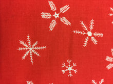 Load image into Gallery viewer, C+S Frost - Flurry - Red Unbleached Cotton Fabric
