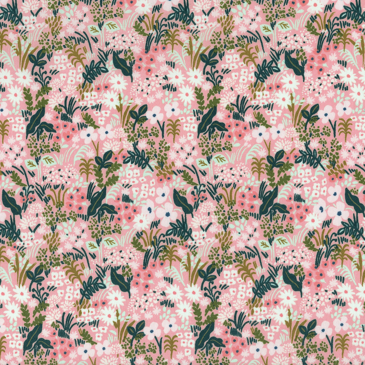 C+S Rifle Paper Co. English Garden Meadow - Pink Fabric