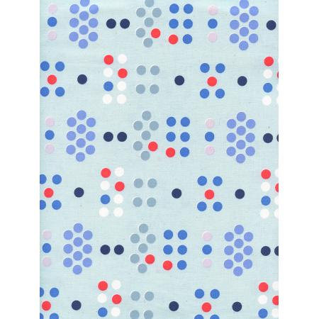 C+S SS Bluebird Morse Code Unbleached Fabric