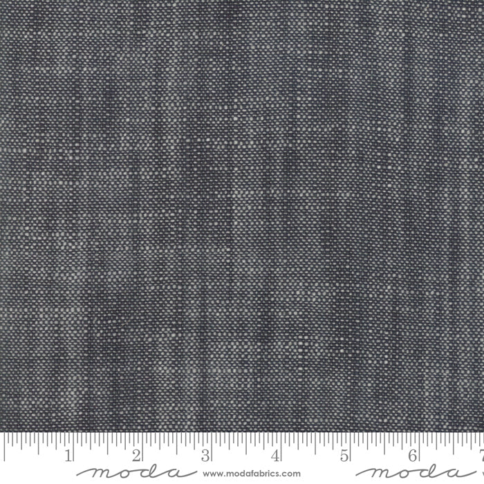 BORO WOVEN FOUNDATIONS SLUB CANVAS BY MODA - CHARCOAL