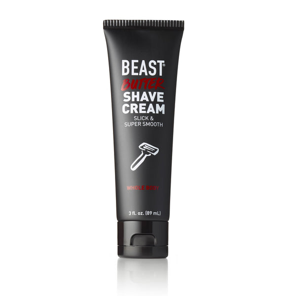 Beast Butter Whole Body Shave Cream 3 ounce travel friendly size