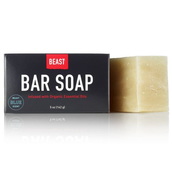 Tame the Beast Natural Bar Soap with Beast Blue Scent with Organic Essential Oils 5 oz ounce size 142 g grams