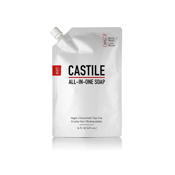 Castile Unscented Liquid Soap Refill
