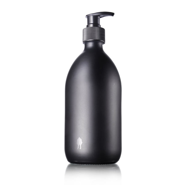 Hand Wash Beast Bottle Matte Black with Tiny Shiny Beast Logo