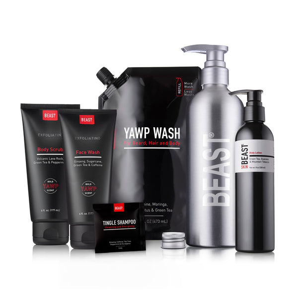 Yawp Exfoliating Shower Recovery Set