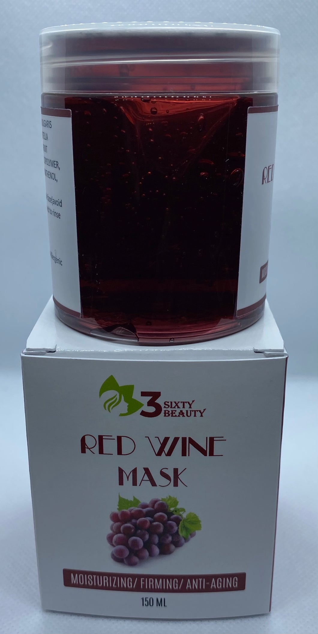 Red Wine Gel Facial Mask