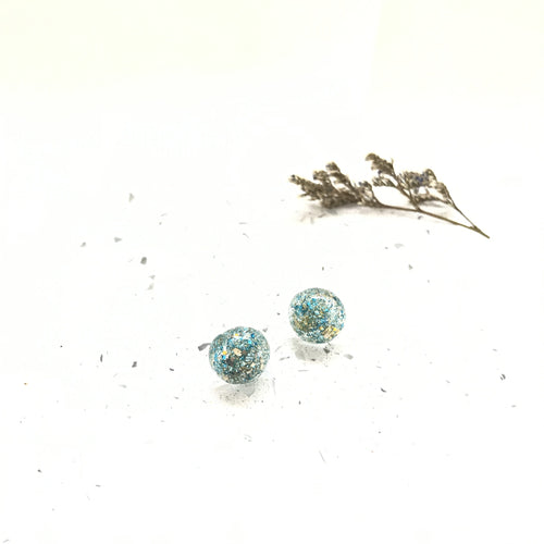 Pine Gold Glitter Resin Stud