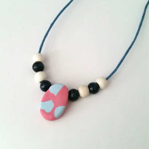 Plumeria Blue Necklace