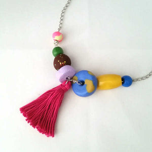 Sandy Necklace With Tassel
