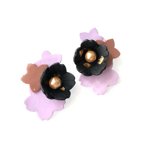 3D Cynthia Sakura Petals Statement Studs (Lavender-Limited Edition)