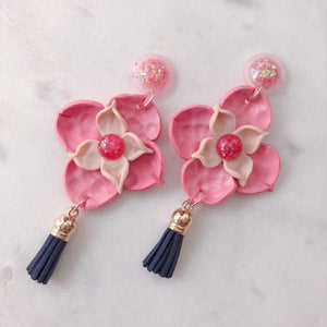 Victoria Freesia Statement Dangle (Blush Pink) - Sample