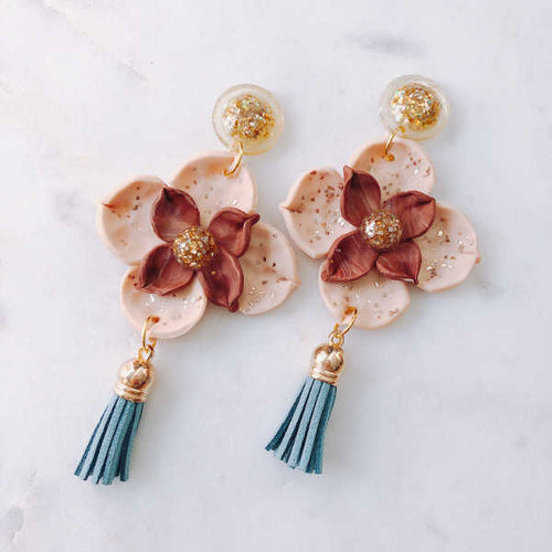 Victoria Freesia Statement Dangle (Gold) - Sample