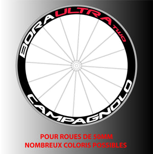 Stickers Autocollants pour 2 roues Bora 50mm - STICKERS PERSO